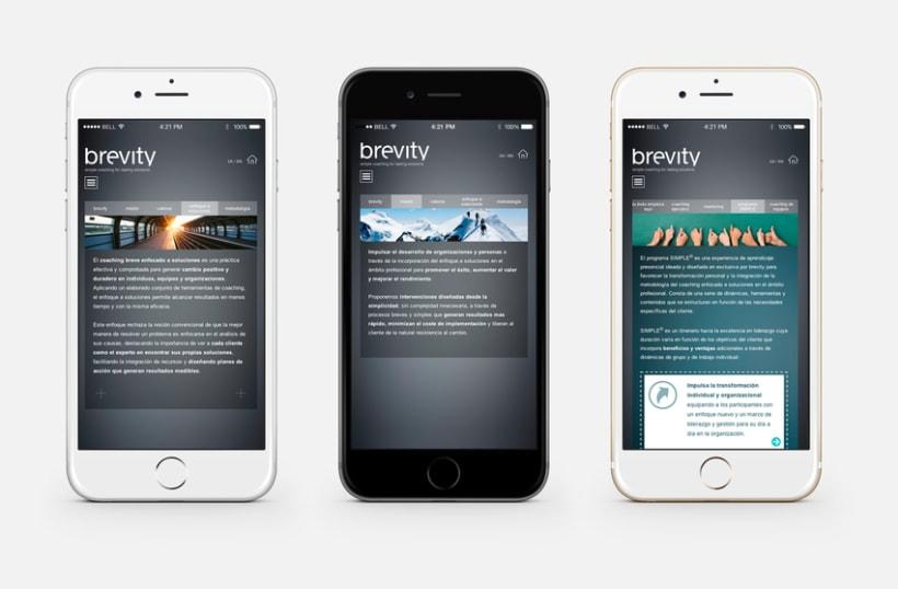 Brevity. Logo, papelería y web (responsive) 8