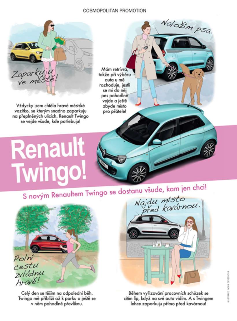 Ilustración Cosmopolitan CZ / Renault -1