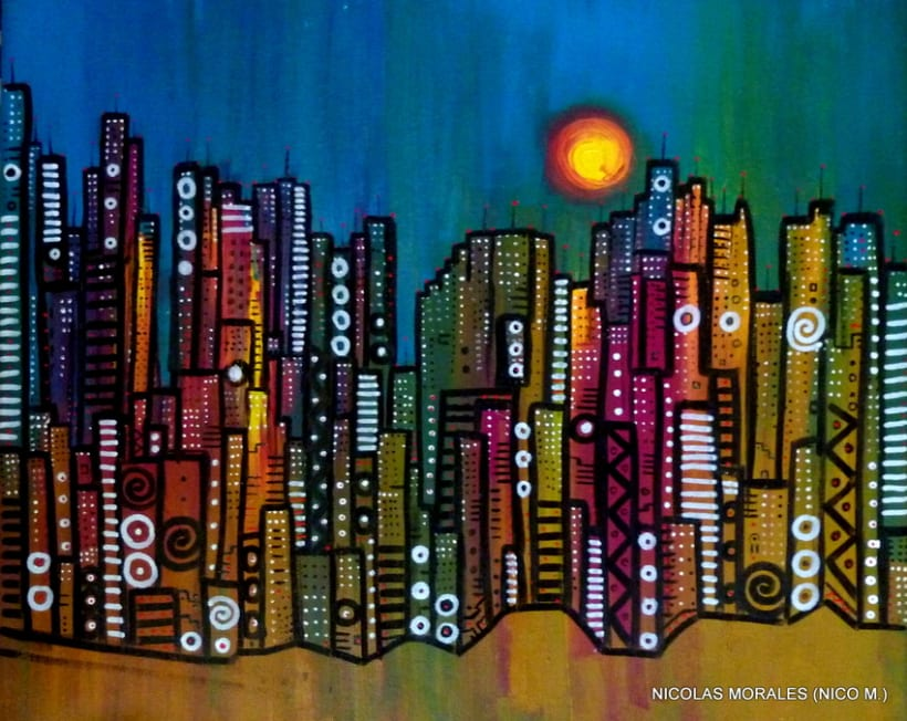 Urban Jungles - paintings, drawings, exhibs 5