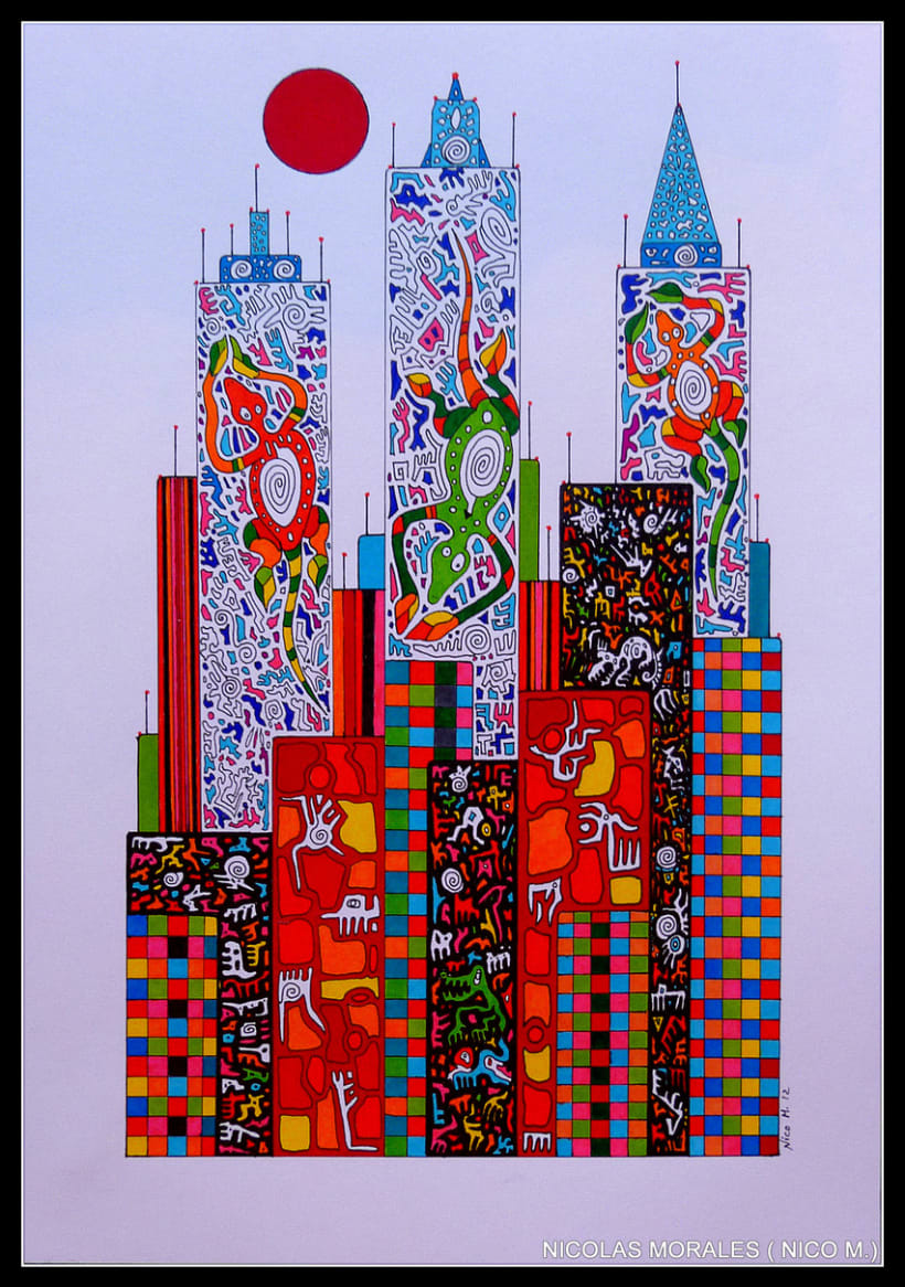 Urban Jungles - paintings, drawings, exhibs 8
