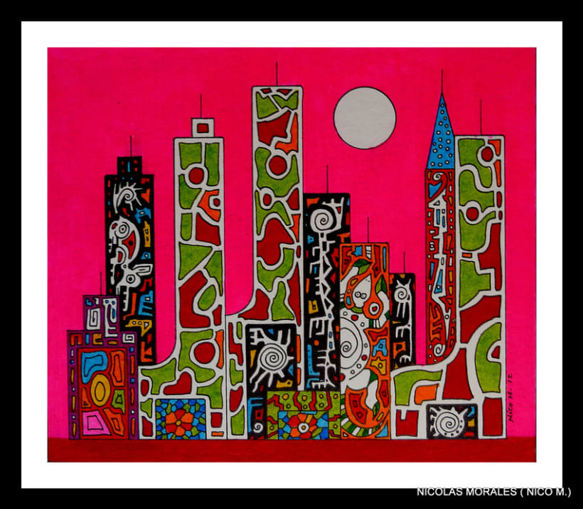 Urban Jungles - paintings, drawings, exhibs 9