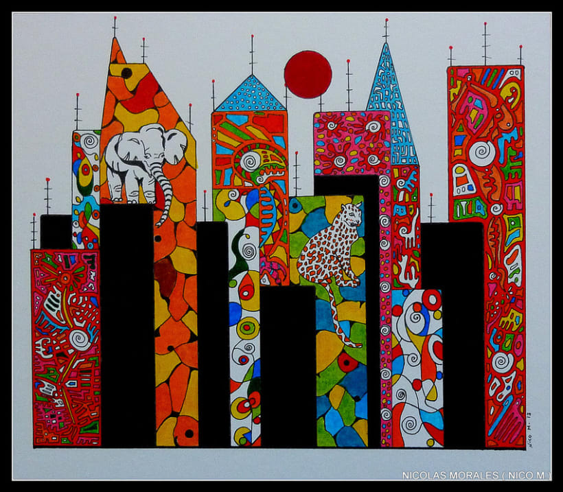 Urban Jungles - paintings, drawings, exhibs 10