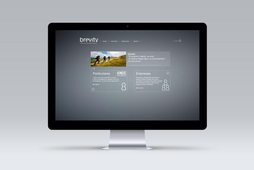 Brevity. Logo, papelería y web (responsive) 3