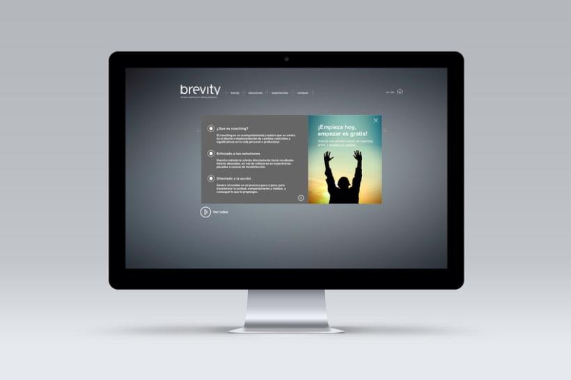 Brevity. Logo, papelería y web (responsive) 4