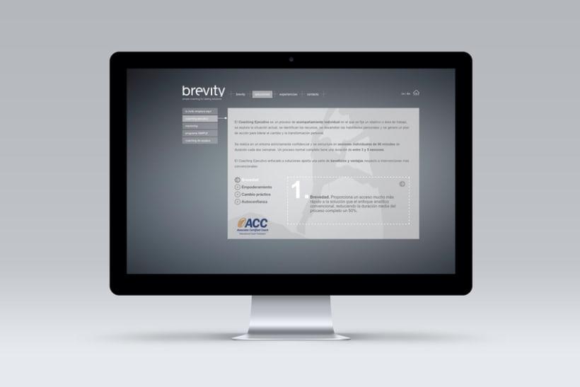 Brevity. Logo, papelería y web (responsive) 5