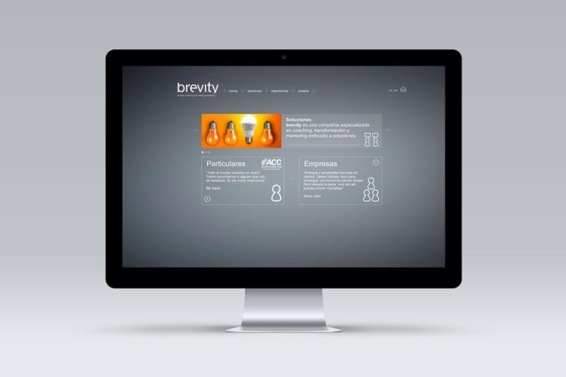 Brevity. Logo, papelería y web (responsive) 2