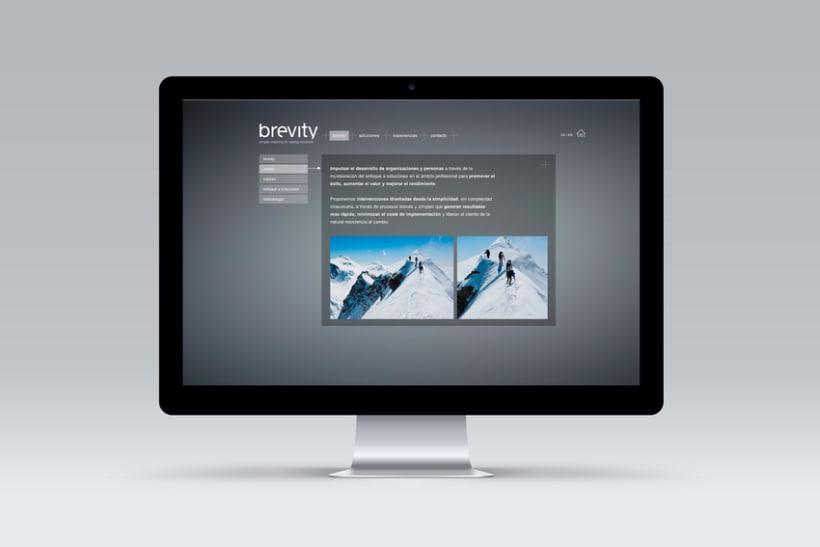 Brevity. Logo, papelería y web (responsive) 6