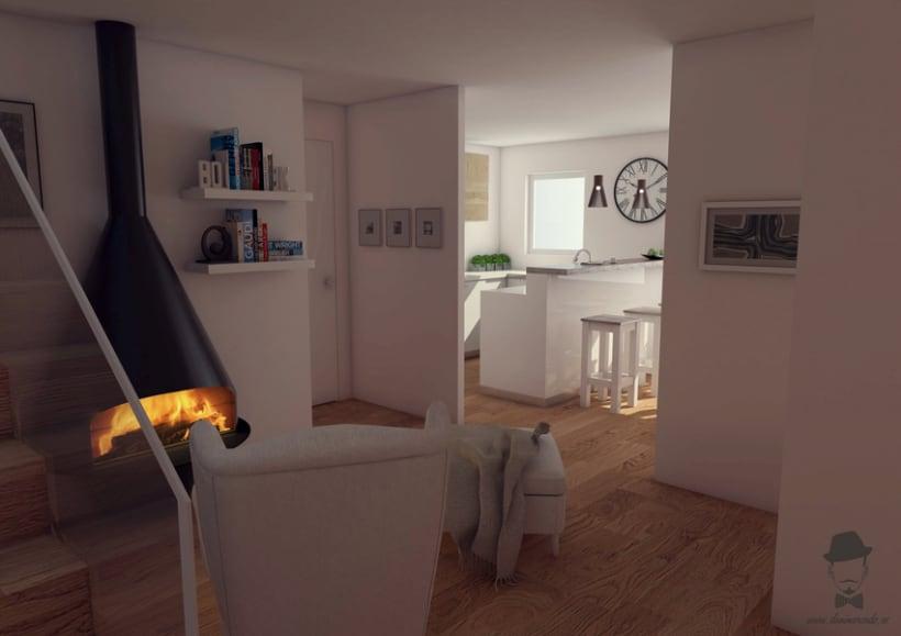 Render Interior - Casa de la Pineda  -1