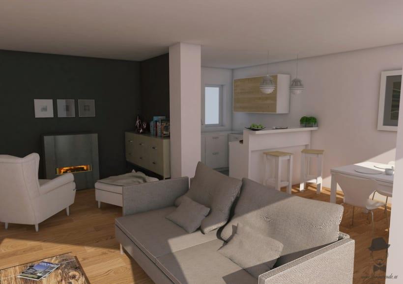 Render Interior - Les Corts -1