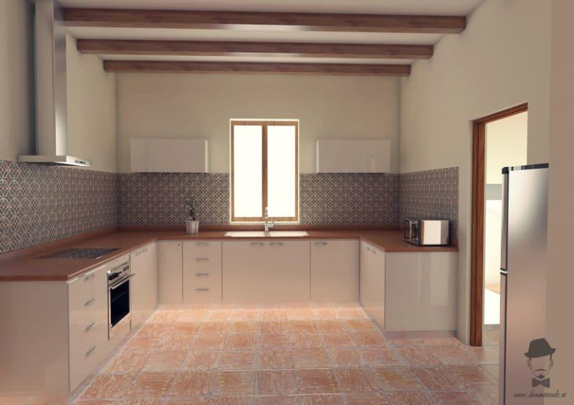 Render Interior - Cocina  -1