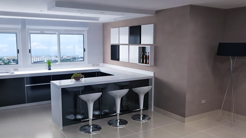 Penthouse duplex dise o de interiores domestika for Diseno de interiores asturias