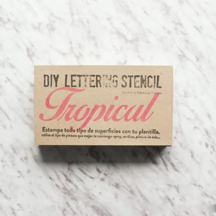DIY-Kit Stencil Lettering 4