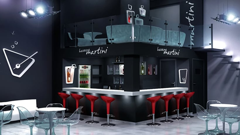 Havana martini bar dise o de interiores domestika for Diseno de interiores de karaokes