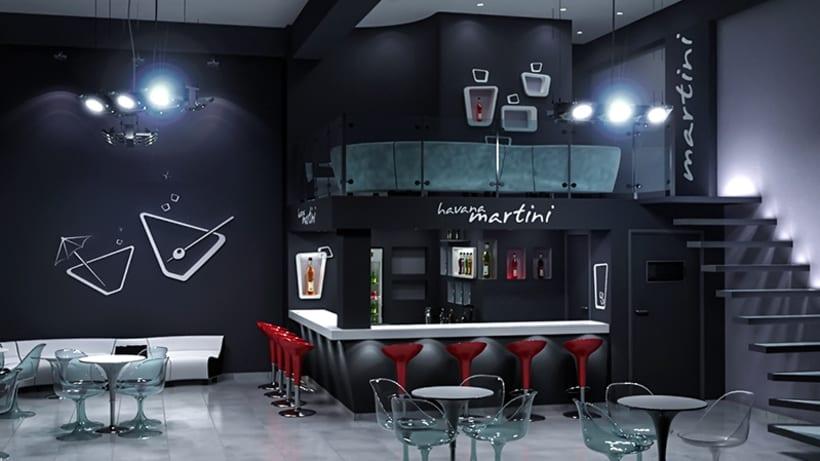 Havana martini bar dise o de interiores domestika - Diseno de interiores ...