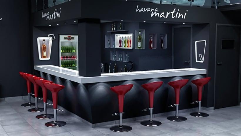 Havana martini bar dise o de interiores domestika - Disenos de barras de bar ...