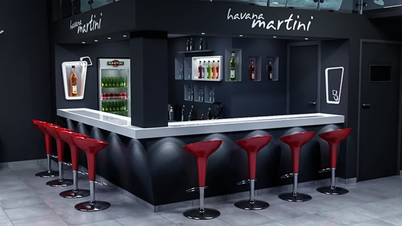 Havana martini bar dise o de interiores domestika for Diseno de interiores