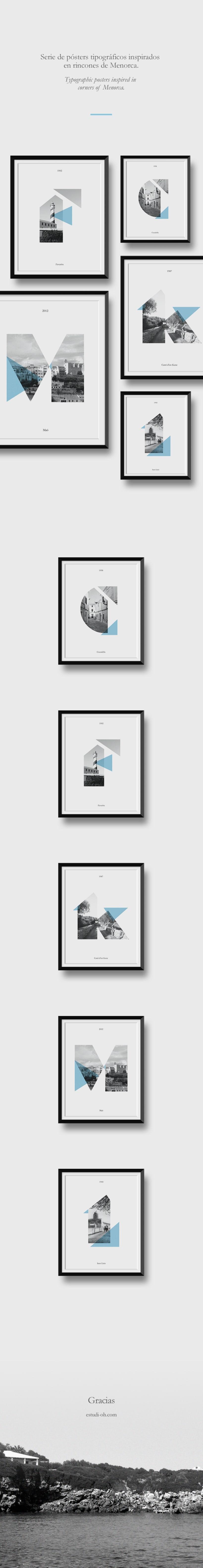 Pósters Serie tipográfica  Menorca 0