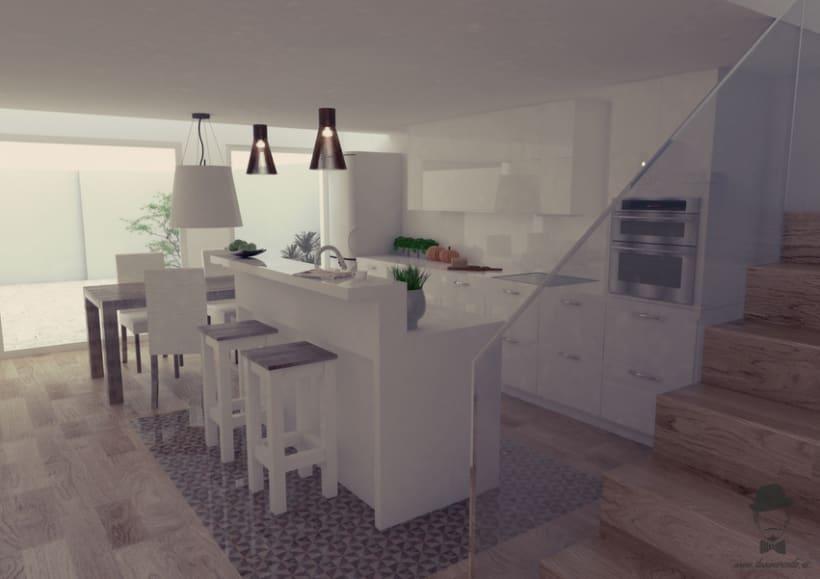 Render Interior - Casa en Sabadell -1