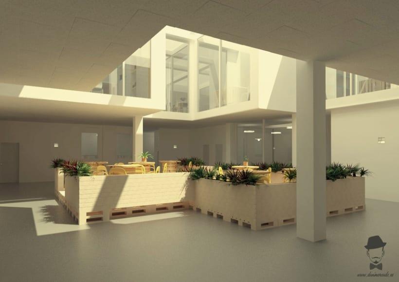 Render Interior - Arrels, Proyecto para alumnos de un Master en Interiorismo -1