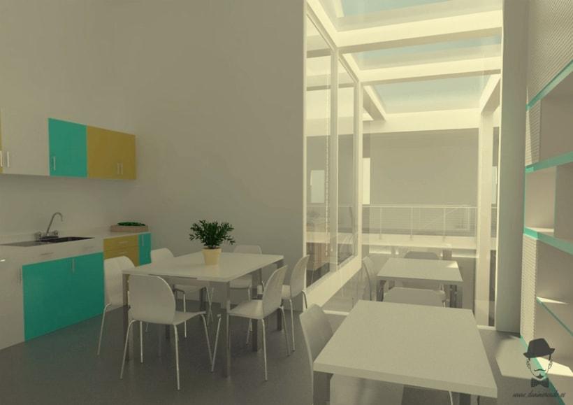 Render Interior - Arrels, Proyecto para alumnos de un Master en Interiorismo 1