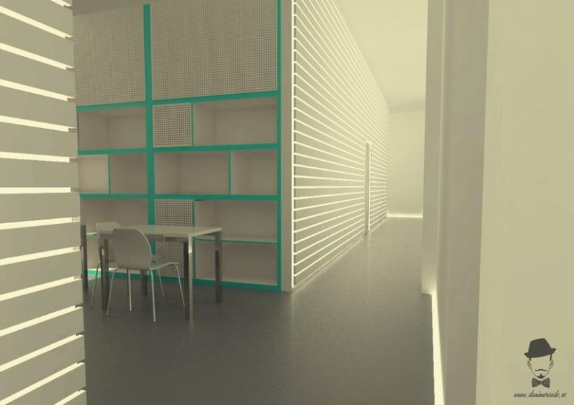 Render Interior - Arrels, Proyecto para alumnos de un Master en Interiorismo 4