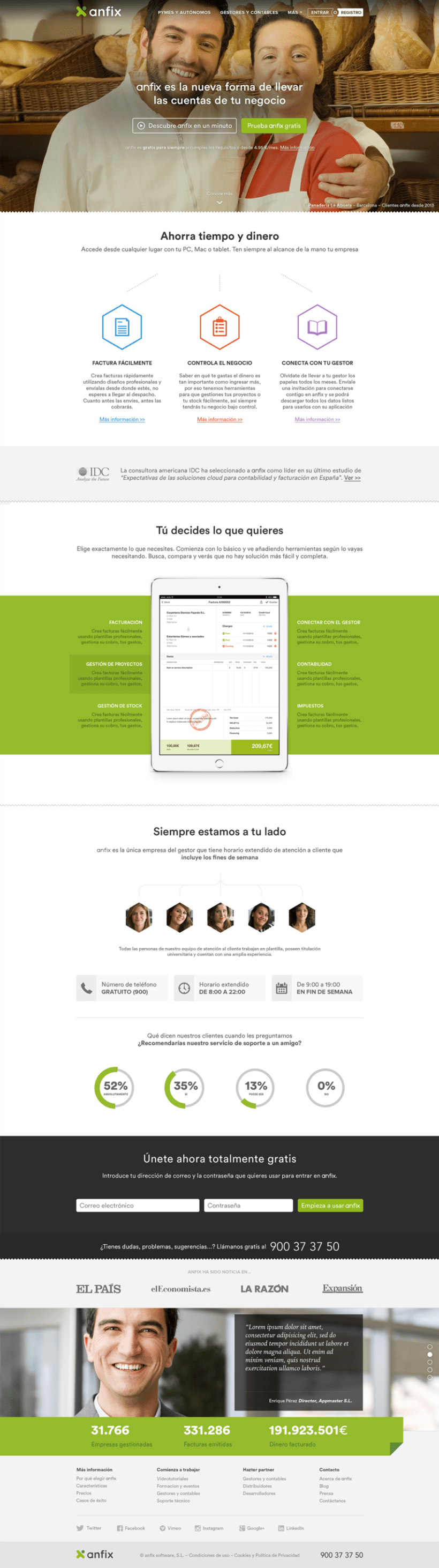 Anfix website, 2015 0