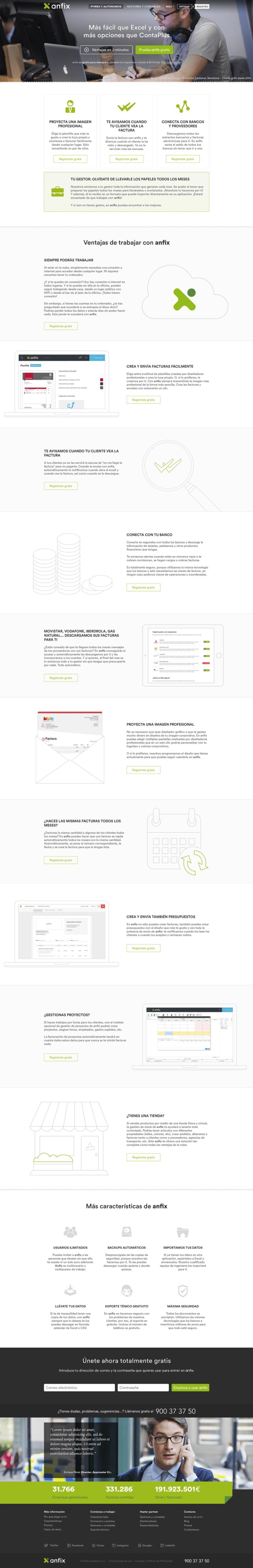 Anfix website, 2015 2
