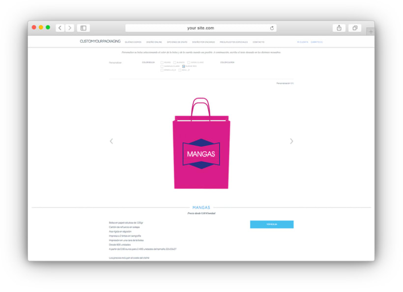 Custom your packaging - e-commerce 2