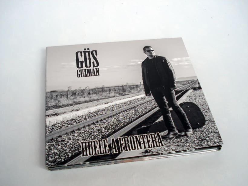 Diseño y maquetación del CD de Güs Guzmán 0