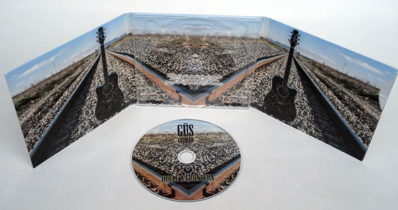 Diseño y maquetación del CD de Güs Guzmán 2