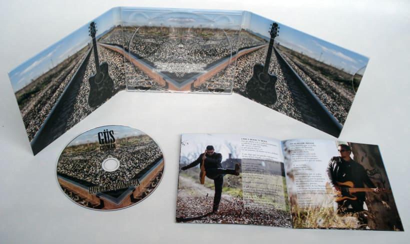 Diseño y maquetación del CD de Güs Guzmán 3