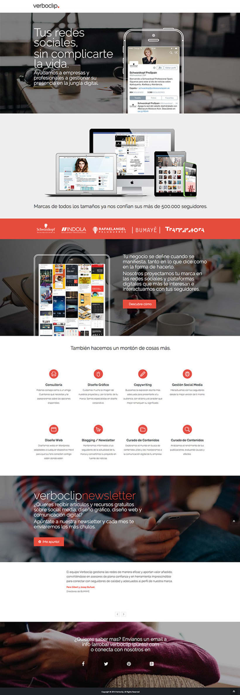 Verboclip, branding y website. 1