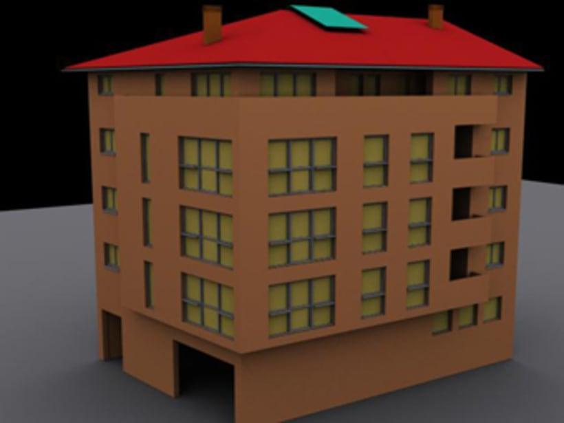 Imágenes 3D de  viviendas a partir de planos y alzados en autocad 0