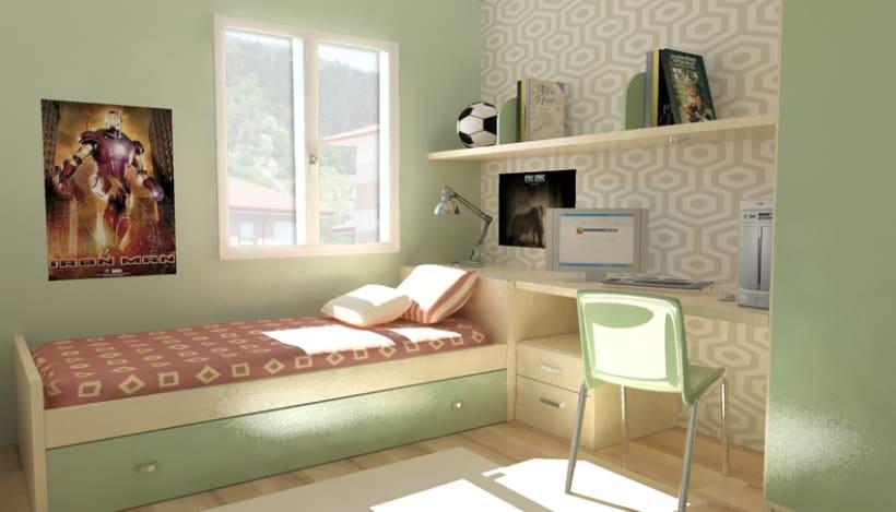 Imágenes 3D de  viviendas a partir de planos y alzados en autocad 2