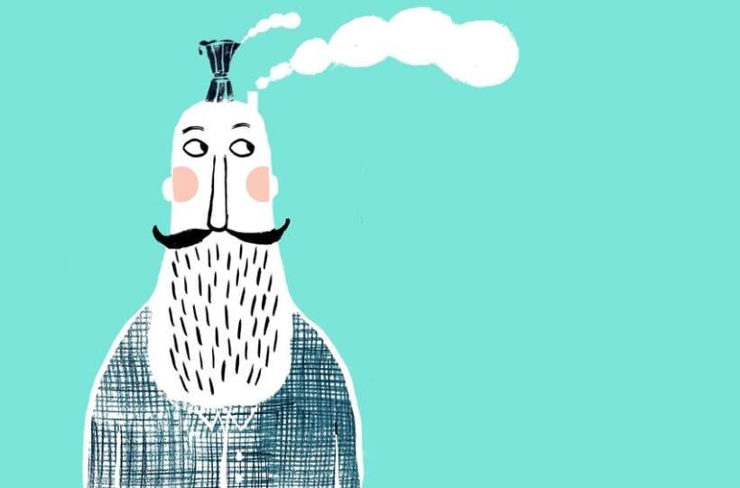 ¿Qué hace un hombre con una sardina en la cabeza? 9