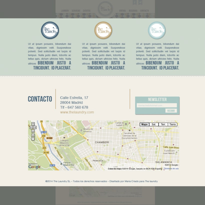 "Manual Identidad Corporativa ""The Laundry"" - Gráficas - Exterior - Web  9"