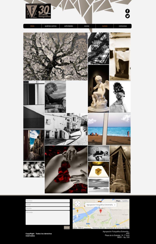 Web Agrupación Fotográfica Extremeña 2