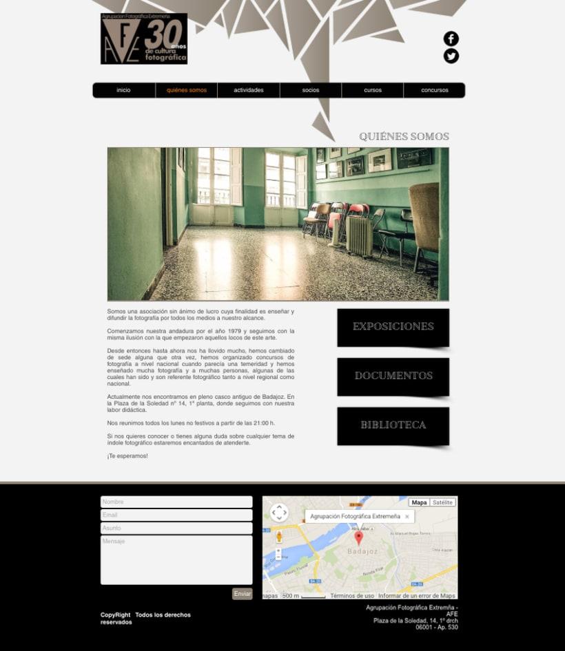 Web Agrupación Fotográfica Extremeña 4