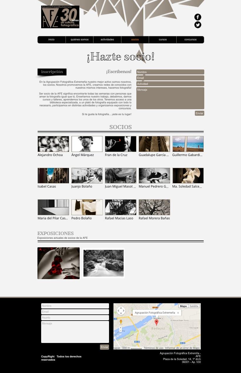 Web Agrupación Fotográfica Extremeña 6