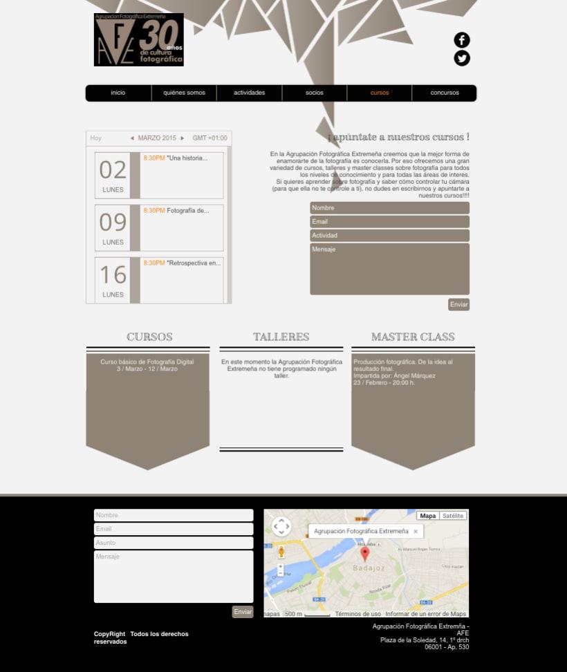 Web Agrupación Fotográfica Extremeña 8