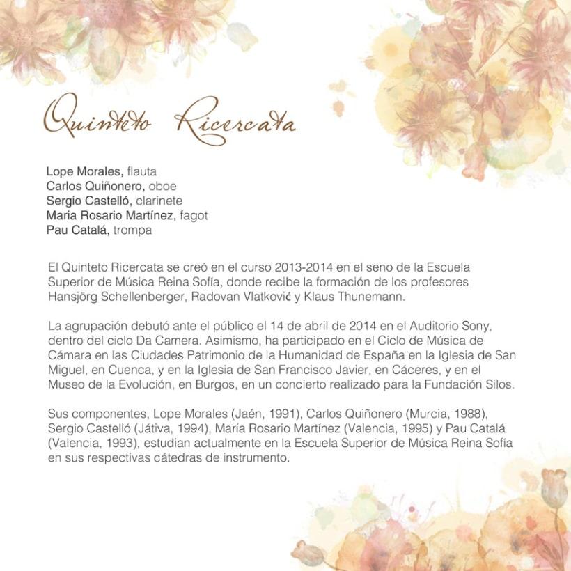 Concierto Prosegur. Quinteto Ricercata 2