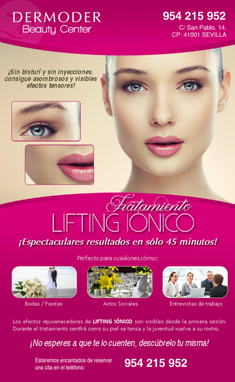 DISEÑO E-MAILING PARA DERMODER BEAUTY CENTER -1