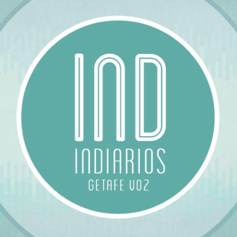 IND, logotipo e imagenes para redes sociales del programa de radio INDIARIOS. -1