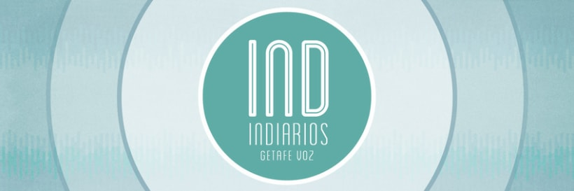 IND, logotipo e imagenes para redes sociales del programa de radio INDIARIOS. 0