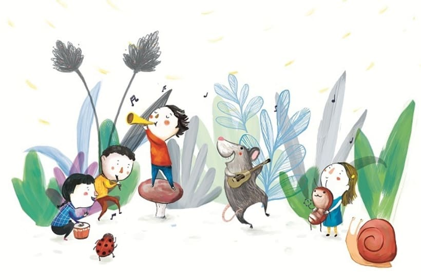 La bandita del jardín (Ilustración digital) 0