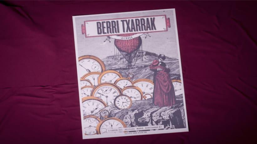 BERRI TXARRAK Poster (+ Proceso serigrafía) 2