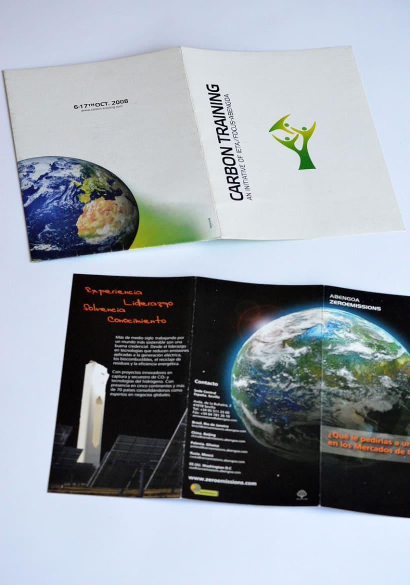 Diseño Flyer Feria Carbon Training - Zeroemissions Abengoa -1