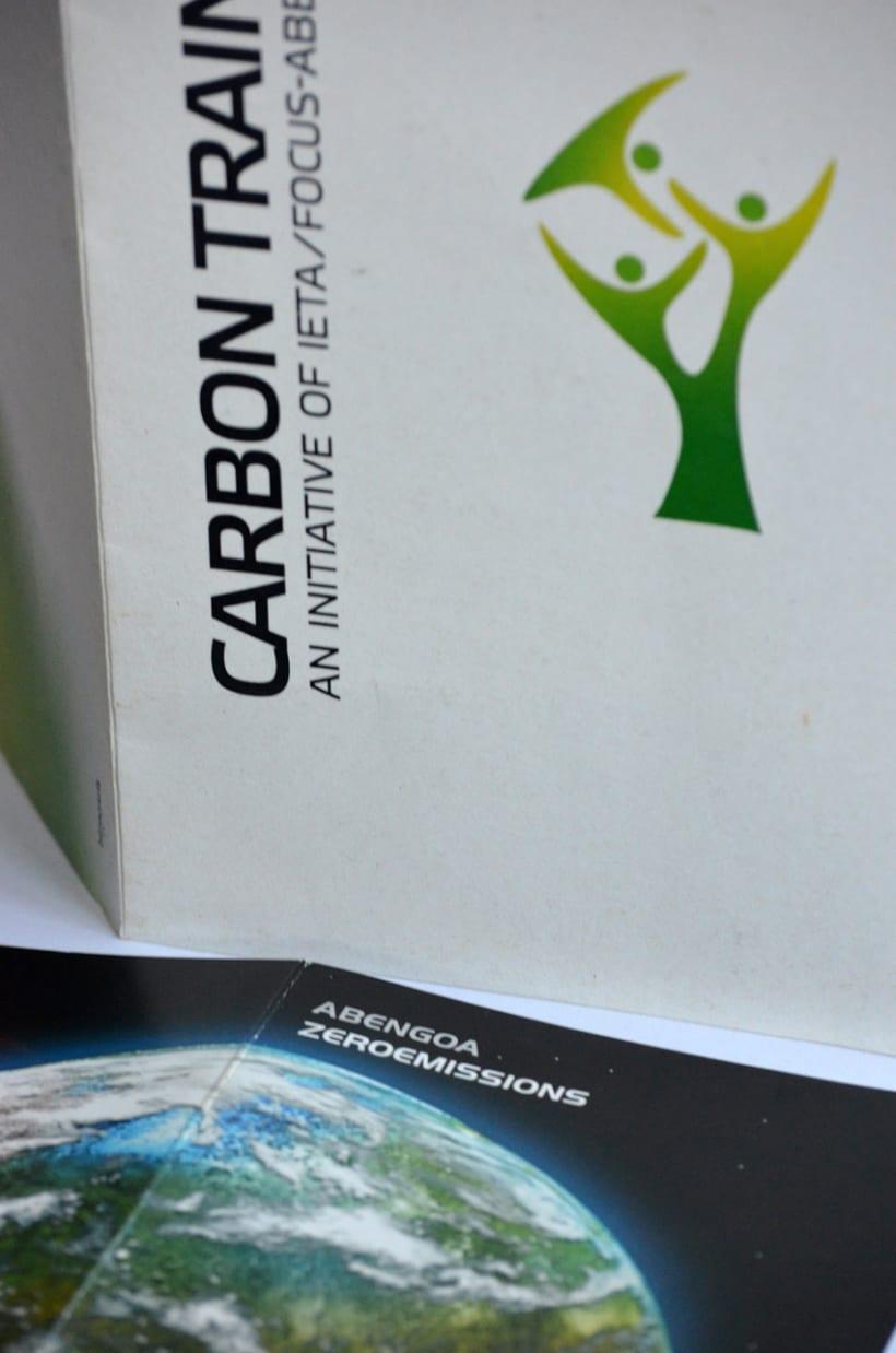 Diseño Flyer Feria Carbon Training - Zeroemissions Abengoa 0