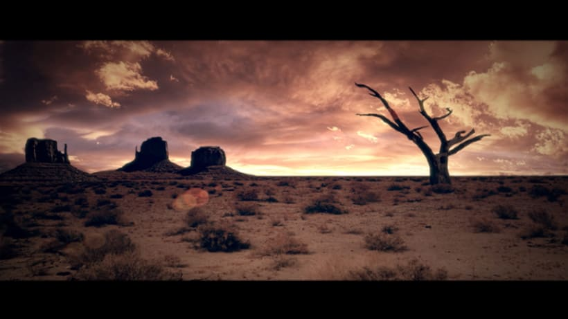 MattePainting y proyeccion - Desierto -1