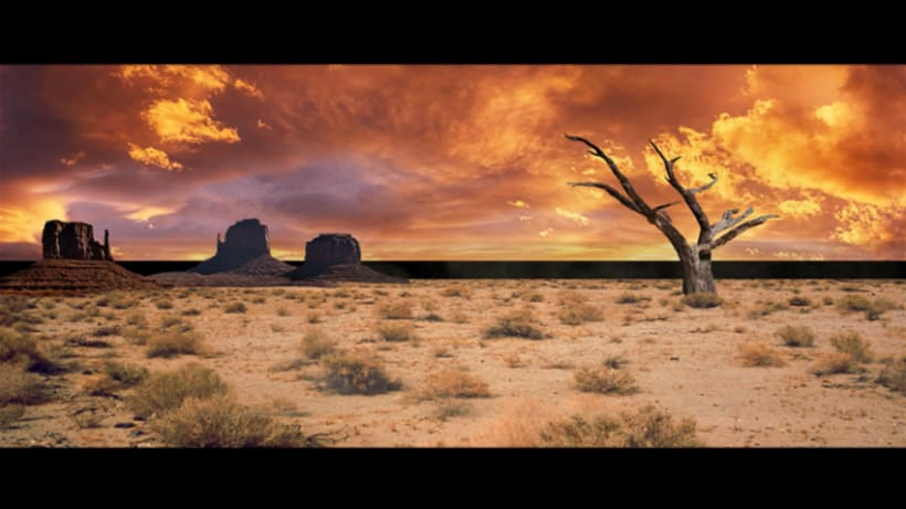 MattePainting y proyeccion - Desierto 0